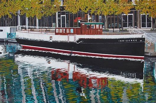 Chicago River Boat by Steven Fleit