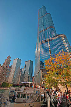 Chicago River Trump Tower Beautiful Chicago Buildings JELE3007.j by Tom Jelen
