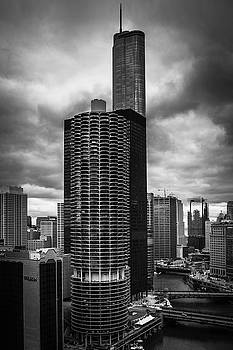 Chicago River under Storm Clouds by Andrew Soundarajan