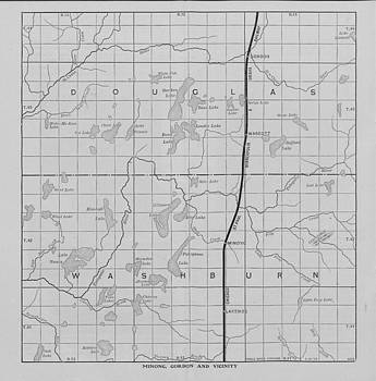 Chicago and North Western Historical Society - Omaha Road Map of Northern Wisconsin - Minong and Gordon Vicinity
