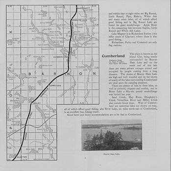 Chicago and North Western Historical Society - Omaha Road Map of Northern Wisconsin - Cumberland Area