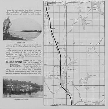 Chicago and North Western Historical Society - Omaha Road Photos and Map of Solon Springs