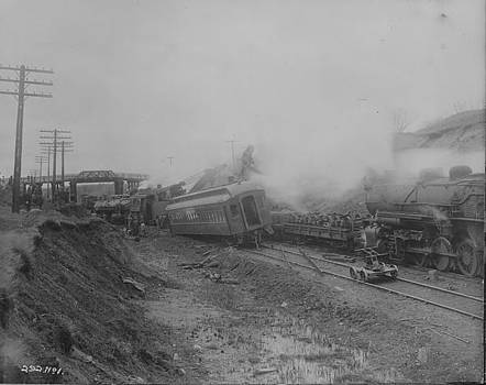 Chicago and North Western Historical Society - Omaha Road Train Wreck in Wilson Wisconsin