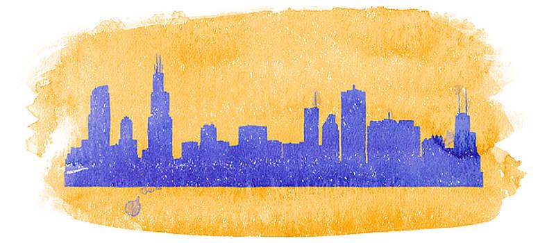 Vyacheslav Isaev - Chicago sky line in purple