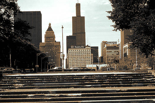 Art America Gallery Peter Potter - Old Chicago Photo - Skyline with Sears Tower