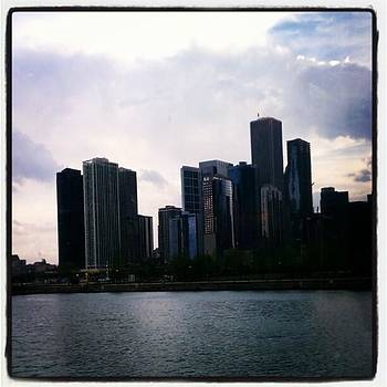 Chicago Skyline At Sunset Viewed From by Tammy Winand