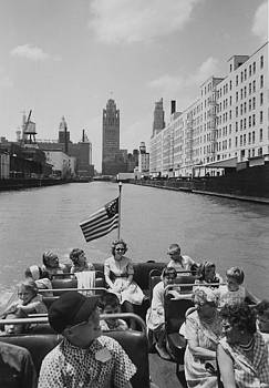 Chicago and North Western Historical Society - Chicago Skyline by Boat -1962