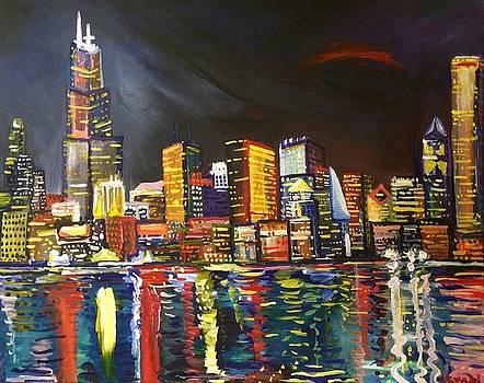 Chicago Skyline by Israel Fickett