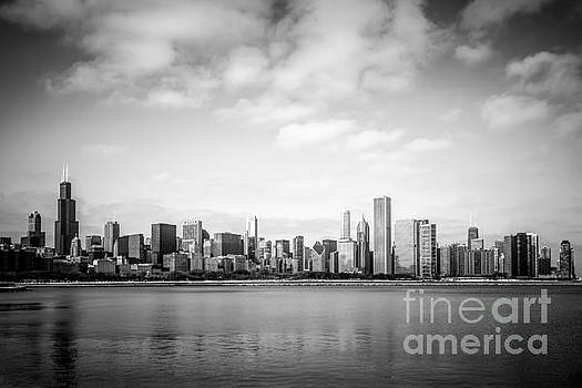 Paul Velgos - Chicago Skyline Lakefront Black and White Photo