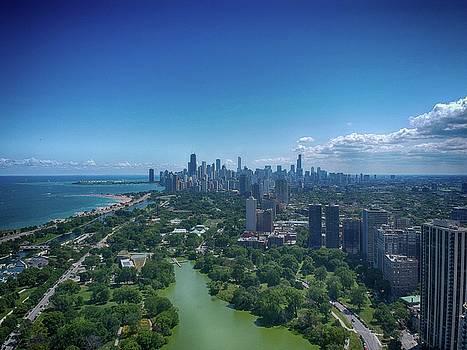 Chicago skyline Pano by Patrick Warneka