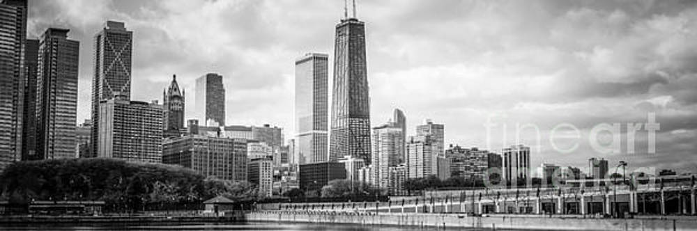 Chicago Skyline Panorama Black and White Photo by Paul Velgos