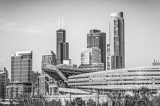 Paul Velgos - Chicago Skyline with Soldier Field and Willis Tower