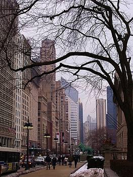 Chicago Street Scene by Anna Villarreal Garbis