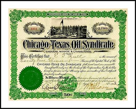 Peter Ogden - Chicago Texas Oil Syndicate 1902 Stock Certificate