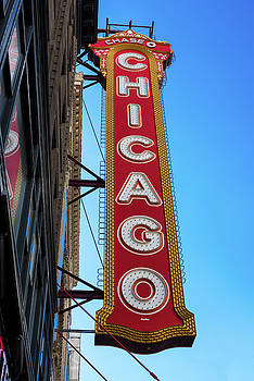 Chicago Theater Marquee Morning by Steve Gadomski