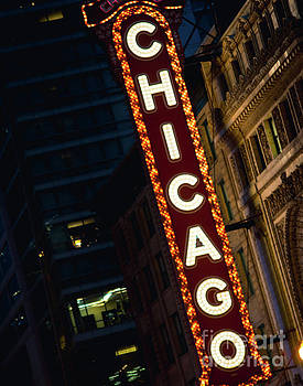 Chicago Theater Neon by Sonja Quintero