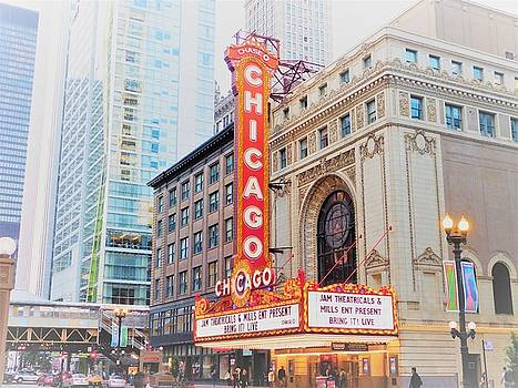 Chicago Theater by Tephra Miriam