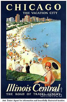 Chicago Vacation City Vintage Poster Restored by Carsten Reisinger