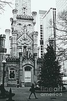 Frank J Casella - Chicago Water Tower Christmas Tree - Monochrome