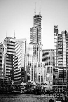 Paul Velgos - Chicago with Sears Willis Tower in Black and White