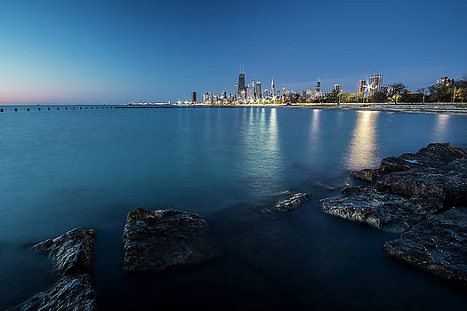 Chicago's Lakefront and skyline at dawn  by Sven Brogren