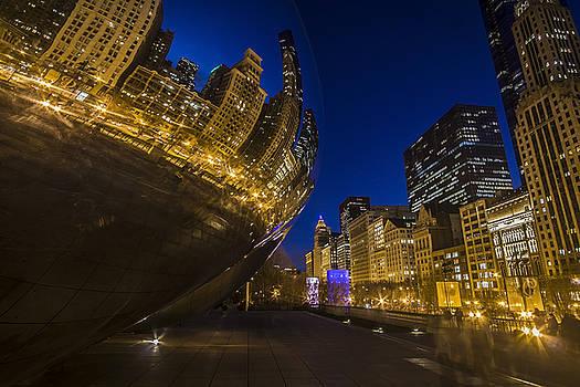Chicago's Millenium Park at dusk by Sven Brogren