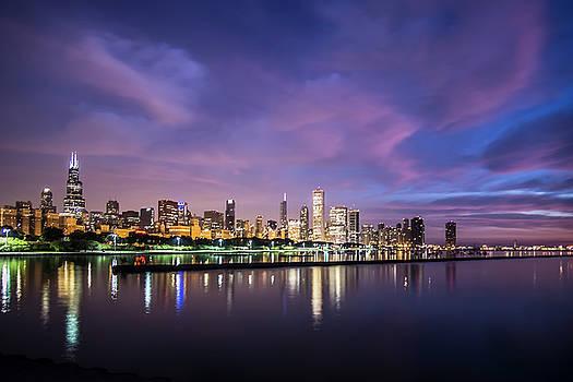 Chicago's Monroe Harbor at dawn by Sven Brogren