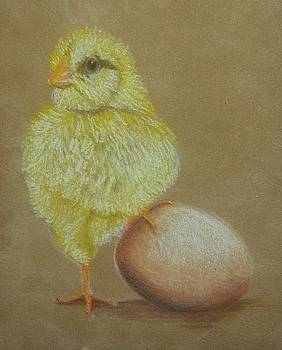 Chick and Egg by JoAnn Morgan Smith