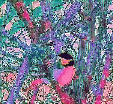 Brenda Plyer - Chickadee 5 Pink Blue and Purple