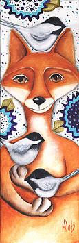 Chickadee Fox by Deb Harvey
