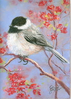 Chickadee in Bloom by Grace Goodson