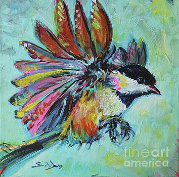 Chickadee In Sunlight by Susan Davies