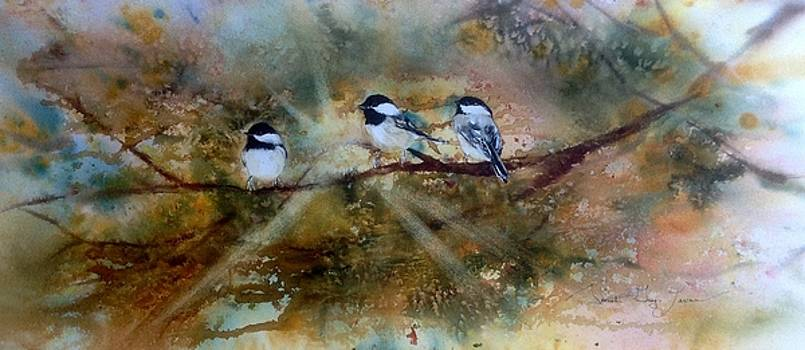 Chickadee Trio by Sarah Guy-Levar