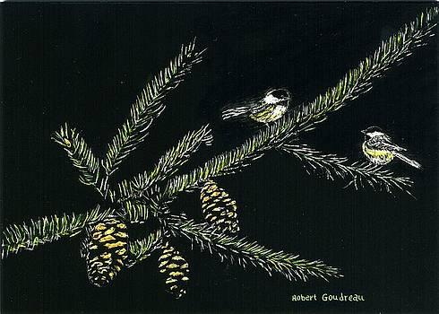 Chickadees by Robert Goudreau