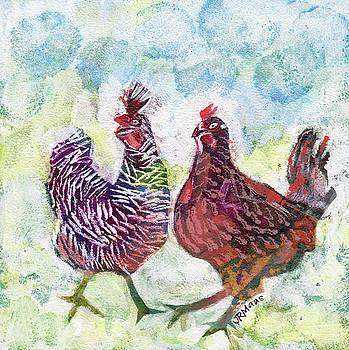 Chicken Chat I by Julie Maas