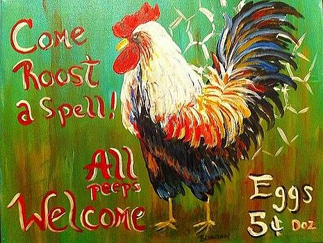 Chicken Welcome 3 by Belinda Lawson