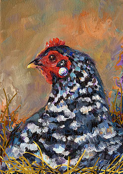 Peggy Wilson - Chicken with a Pearl Ear Ring