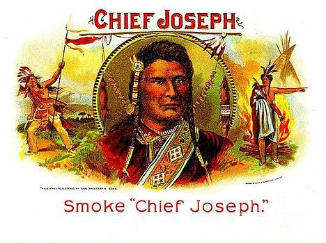 Peter Ogden - Chief Joseph of the Wallowa Nez Perce circa 1890 Cigar Label Chromolithograph