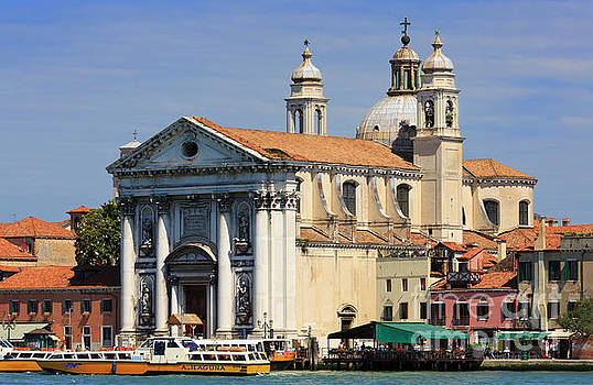 Chiesa dei Gesuati on the Guidecca Canal in Venice Italy by Louise Heusinkveld