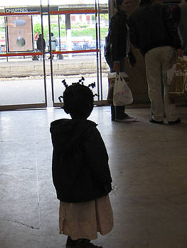 Child at Chartres by Lori  Secouler-Beaudry