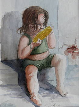 Child Eating Corn by Engin Yuksel