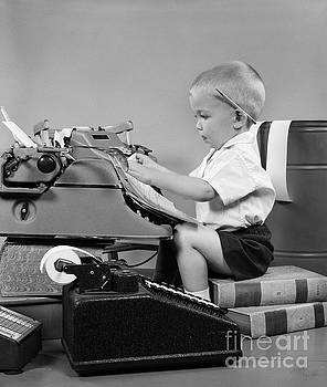 H Armstrong Roberts ClassicStock - Child Playing Accountant, C.1950s