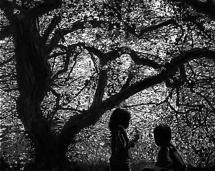 Child Silhouettes by Franklin Kielar
