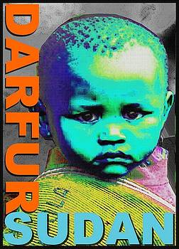 Child-Sudan Abstract Blue by Otis Porritt