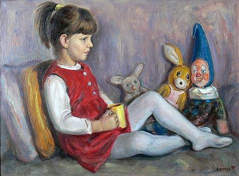 Child with toys by Dionisii Donchev