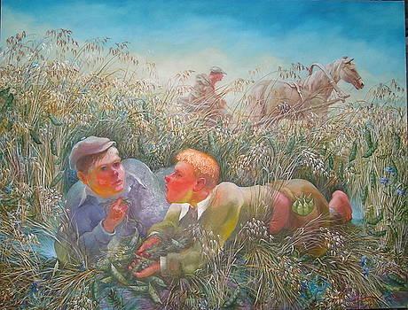 Childhood Peas by Sergey Zinovjev