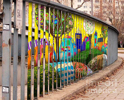 Children art on railings by Tin Tran