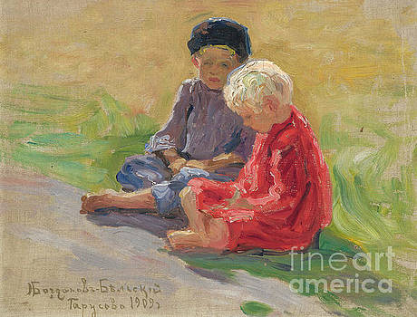 Nikolay Petrovich-Belsky - Children Playing