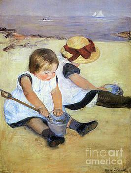 Cassatt - Children Playing On A Beach