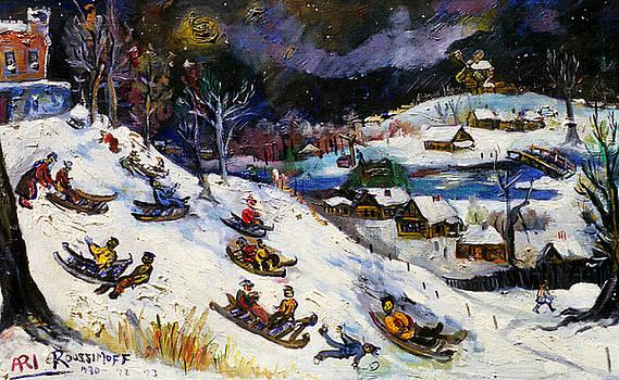 Ari Roussimoff - Children Sleighing Down The Hill